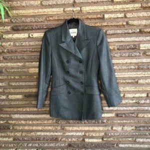 Trussardi Collection Gray Flannel DB Fitted Jacket